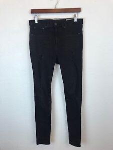 d9e7c68d7c5e17 Rag & Bone Black Denim Skinny High Rise Legging Jean Size 30 10 GUC ...