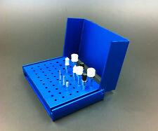 1Pc 58 Holes Dental Bur Holder Stand Autoclave Disinfection Box Case Blue