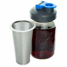 Cold Brew Coffee Maker with Flip Cap Lid by County Line Kitchen 1 Quart