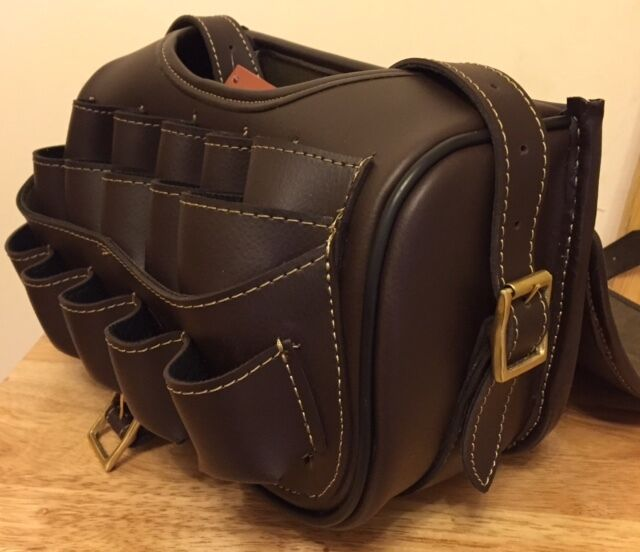 Leather Loaders Cartridge Bag With Design Attached Brass Buckles for sale  online