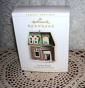 HALLMARK-ORNAMENT-CORNER-BANK-NOSTALGIC-HOUSES-AND-SHOP