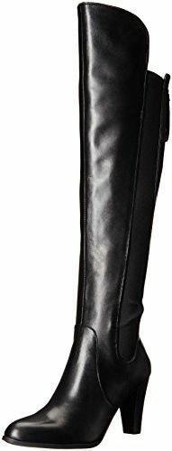 NIB $249 Adrienne Vittadini Tex Over-the-Knee Boots - Black Leather - size 6