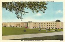 GREENVILLE, SC South Carolina  BOB JONES UNIVERSITY-Girls Dorm  c1940's Postcard