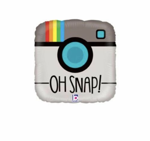 """Oh Snap Selfie Camera 18"""" Balloon Birthday Party Decorations"""