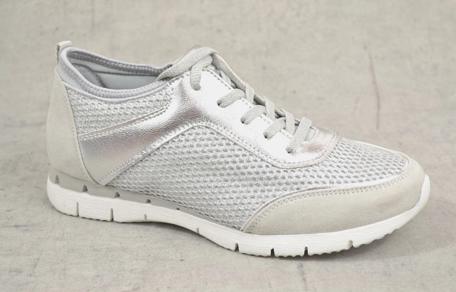 NEU Marco Tozzi Damen Sommer Turnschuhe Damen Sport Schuhe silber comfort Turnschuhe
