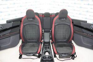 Mini-F60-Jcw-Sport-Pelle-Sedili-Sportivi-Interni-IN-Pelle-Nero-Carbonio