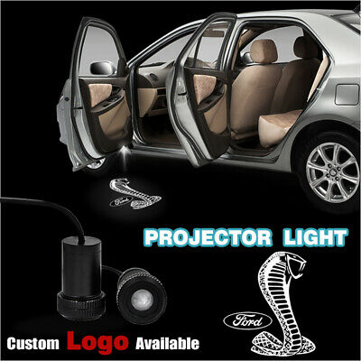 white shelby cobra logo car door light projector laser courtesy ghost shadow led ebay ebay
