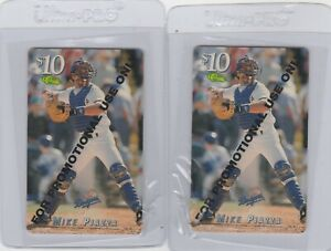 Mike-Piazza-Promo-Promotional-Phone-Card-Classic-1995-Dodgers-Lot-of-2