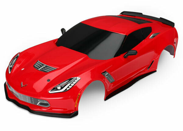 Traxxas 8386R Chevrolet Corvette Z06 cuerpo rojo