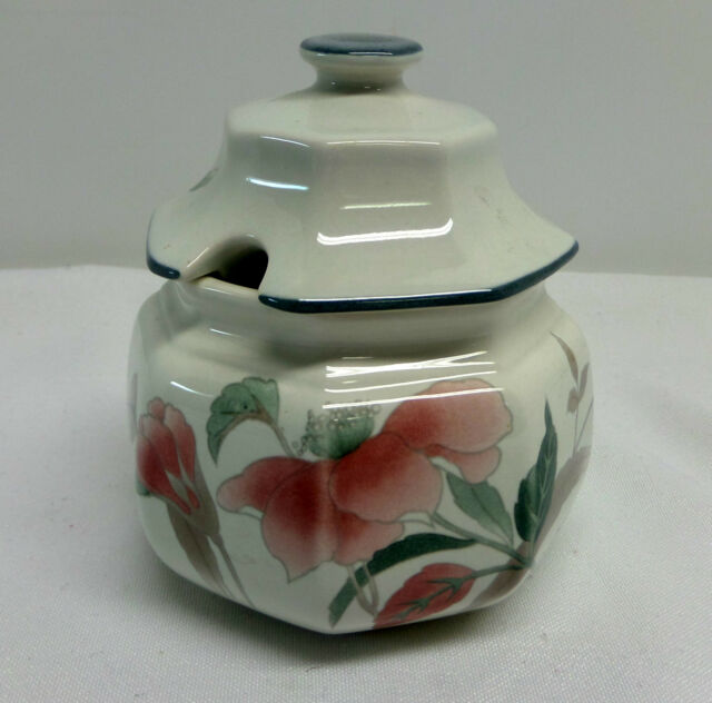 Mikasa Silk Flowers Sugar Bowl With Lid F3003 Japan Pink