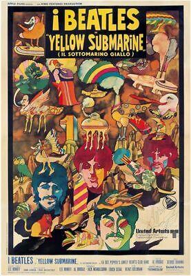 YELLOW SUBMARINE BEATLES POSTER MOVIE FILM A4 A3 ART PRINT CINEMA