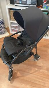 Bugaboo Bee 5 ALL BLACK Complete Stroller Pram With ...