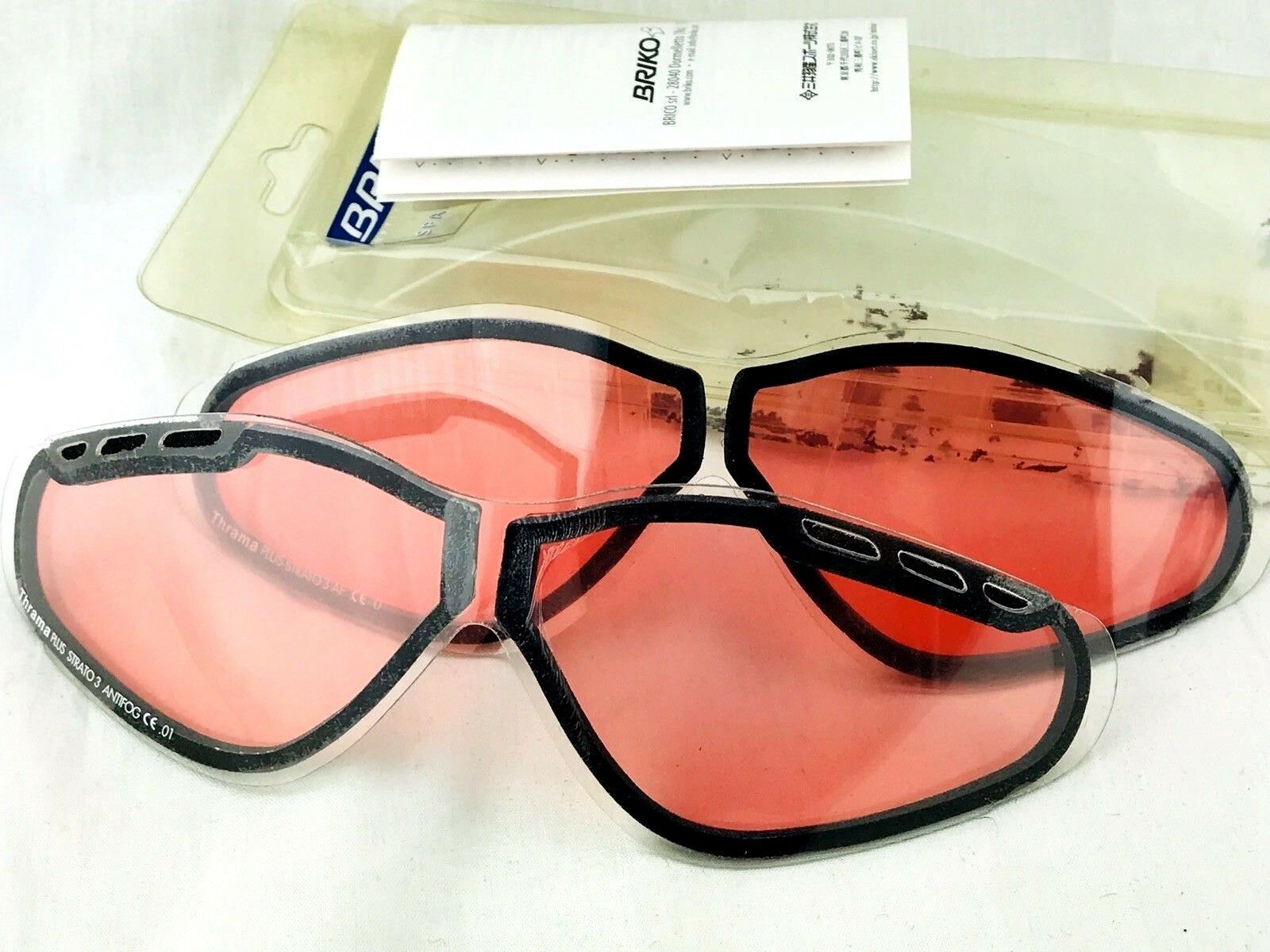 Briko Thrama Plus Strato 3 AF Spare RePlacement lenses two pairs new