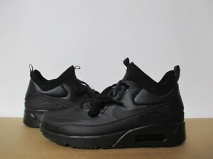 Details about NIKE AIR MAX 90 ULTRA MID WINTER ALL BLACK ANTHRACITE SZ 8 14