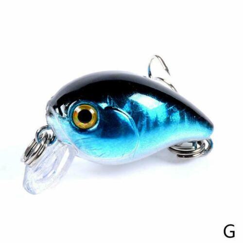 Fishing Lures Kinds Of Mini Minnow Fish Bass Tackle Baits Hooks M1U0