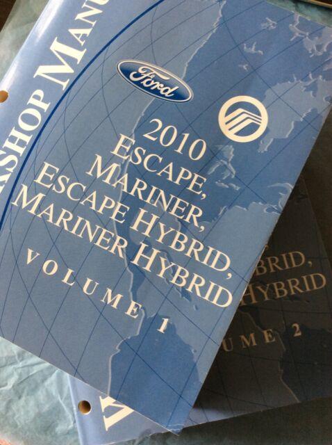 2010 Ford Escape Mariner Service Shop Repair Manual