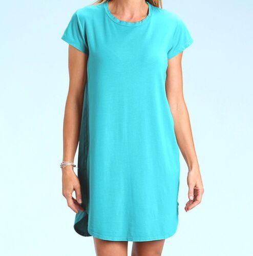 FRESH PRODUCE XL Luna Blue KYLIE Cotton Modal Tee Shirt Dress NWT New XL