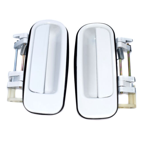 New White Exterior Door Handle Rear Pair For 1992-1996 Camry TO1521101,TO1520101