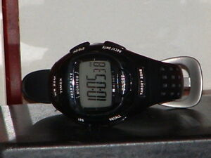 Pre-Owned-Black-Timex-Rubber-Band-Heart-Rate-Digital-Quartz-Watch-Watch-Only