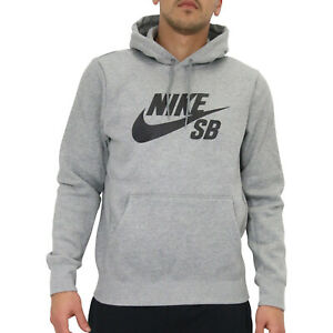 Details zu Nike SB Icon Hoodie Sweater Pullover Kapuzenpullover Herren Grau