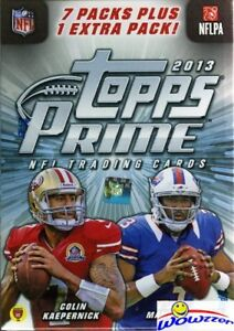 2013-Topps-Prime-Football-Factory-Sealed-Blaster-Box-Look-for-Autographs