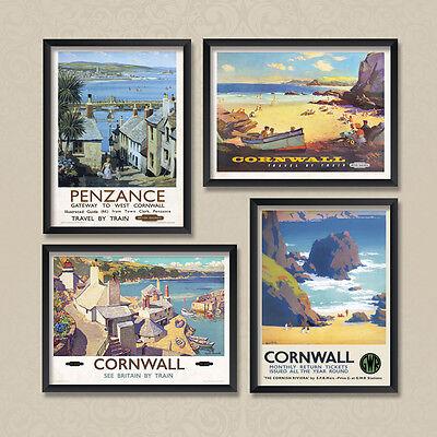 A4 Vintage Posters Cornwall Cornish Riviera Penzance 02