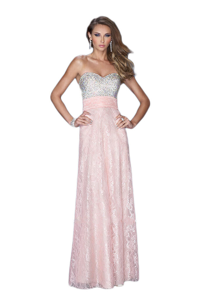 La Femme Prom Dress Formal Evening Gown 20385 Cotton Candy (2), Nude/Mint (4)
