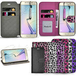 For-Samsung-Galaxy-Phones-Glossy-Leopard-Wallet-Case-Cover-Screen-Protector