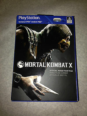 Mortal Kombat X Official Wired Fight Pad Controller For Playstation 4 / 3 New