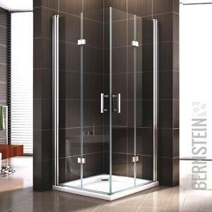 Duschkabine-Duschabtrennung-Dusche-Falttuer-Eckeinstieg-NANO-Echtglas-8mm-195cm