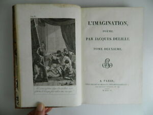 Jacques de Vries DE Fantasía Poema En VIII Cantos T2 Giguet & Michaud 1806 E. O