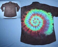 Tie Dye Dress Shirt 16 1/2 33 Mullet: business front party back Black LS
