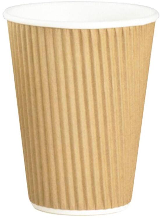 1000 x papier tasses de café 8oz kraft ripple-thé boissons chaudes isolé jetables