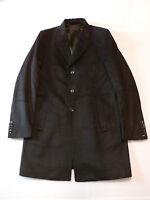 Guess By Marciano Men's Wool-blend Felt Overcoat Jet Black Jm1 Large $398