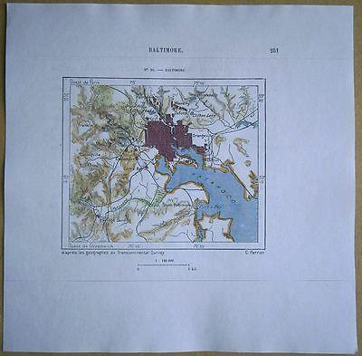 1892 Perron map BALTIMORE, MARYLAND (#251)