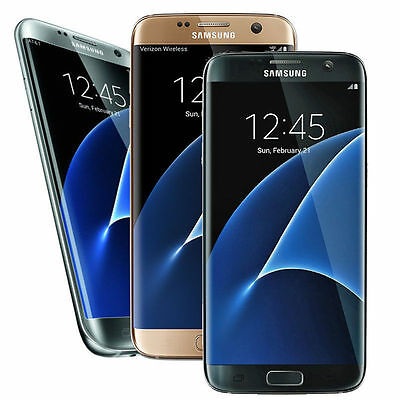 Samsung Galaxy S7 Edge SM-G935V - 32GB (Verizon) Smartphone - Silver Black Gold