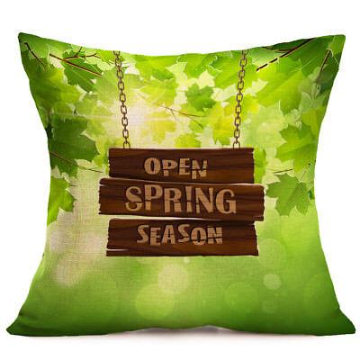 "18"" Spring Theme Home Decoration Linen Pillow Case Car Sofa Waist Cushion Cover"
