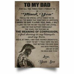 Father And Son Poster Samurai Bushido Motivation Quotes Vintage Wall Art Print 2