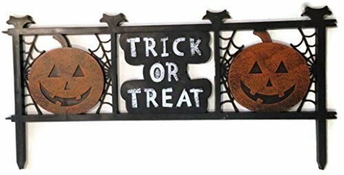 Trick Or Treat Halloween Fence Decor Great To Decorate Your Whole Yard