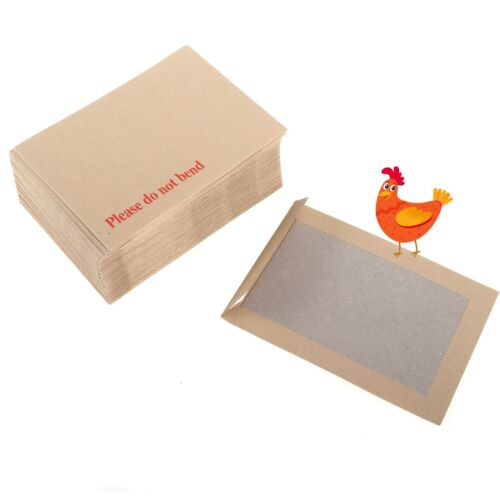 2000 A6 C6 PLEASE DO NOT BEND HARD CARD BOARD BACKED MANILLA ENVELOPES BROWN