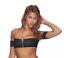Beach Bunny Swimwear Women/'s Black Zipper Zoey Off Shoulder Bikini Top B18112T9