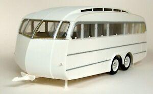 Norev-1-18-Scale-185726-1955-Caravan-Henon-White-Plastic-Model-Car