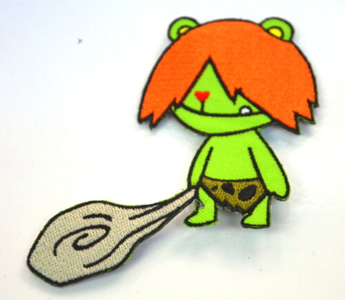 CARTOON CAVEMAN WITH CLUB  Embroidered Iron Sew On Cloth Patch Badge  APPLIQUE