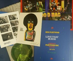 SIGNED-Mick-Fleetwood-Mac-Love-that-burns-Deluxe-Genesis-Publications-Book