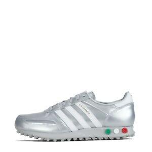 adidas Originals LA Trainer Men's Trainers Shoes Silver Metallic ...