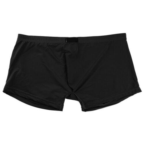 Herren Ice Silk Boxer Briefs Hosen Trunks Soft Shorts Bulge Pouch Unterwäsche DE