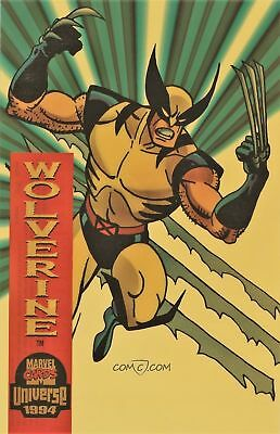 X-MEN WOLVERINE Suspended Animation Card Clear Plastic Jumbo Topper Marvel Comic