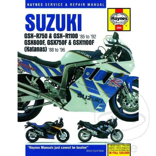 Suzuki GSX 1100 F 1992-1993 Haynes Service Repair Manual 2055