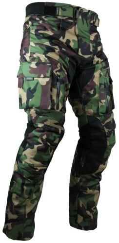 Heyberry Motorrad Hose camouflage grün sportlich mit Oberschenkeltaschen Gr 5XL