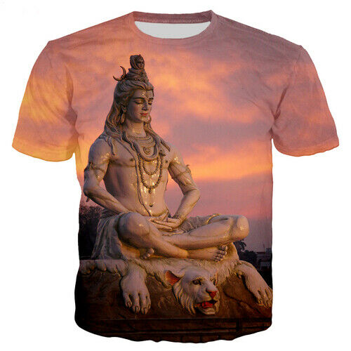 Hindu God Lord Shiva Women Men T-Shirt Casual 3D Print Short Sleeve Tee Tops